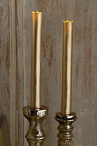 Metallic Flameless Taper Candles