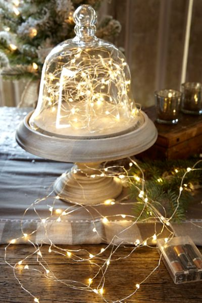 Love these dainty twinkle lights