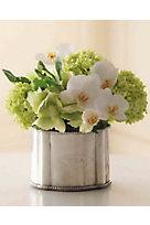 Blooming Orchid & Snowball Hydrangea Arrangement