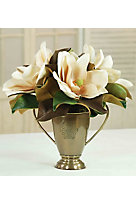 Tiomphe Magnolia Bloom Arrangement in Bronzed Cup