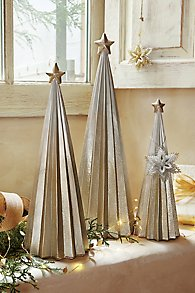 Fluted Metallic Ombre Tree Set