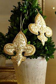 Zari Fleur de Lis Ornament Set