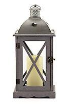 Crossbar Flameless Candle Lantern
