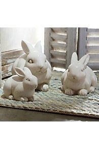 Ceramic Bunnies Set of 3