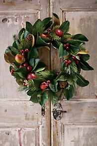 Fruit & Pinecone Wreath