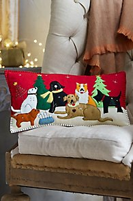The Dog Pack Holiday Pillow