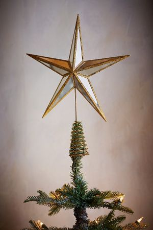 mirror star tree topper - Christmas Tree Topper Star