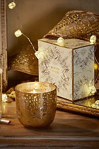 Boxed Glass Winter Candle