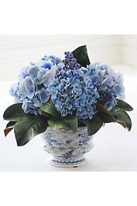 Hydrangea in Blue & White Vase