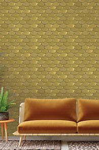 Brass Belly Self-Adhesive Wallpaper