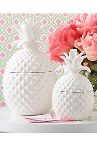 White Pineapple Canister