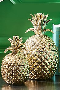 Gold Pineapple Canister