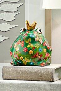 Freddy Frog Ceramic Art Money Bank