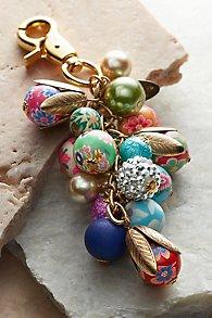 Floral Bead Bag Charm