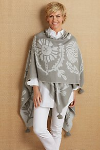 Frosted Floral Poncho