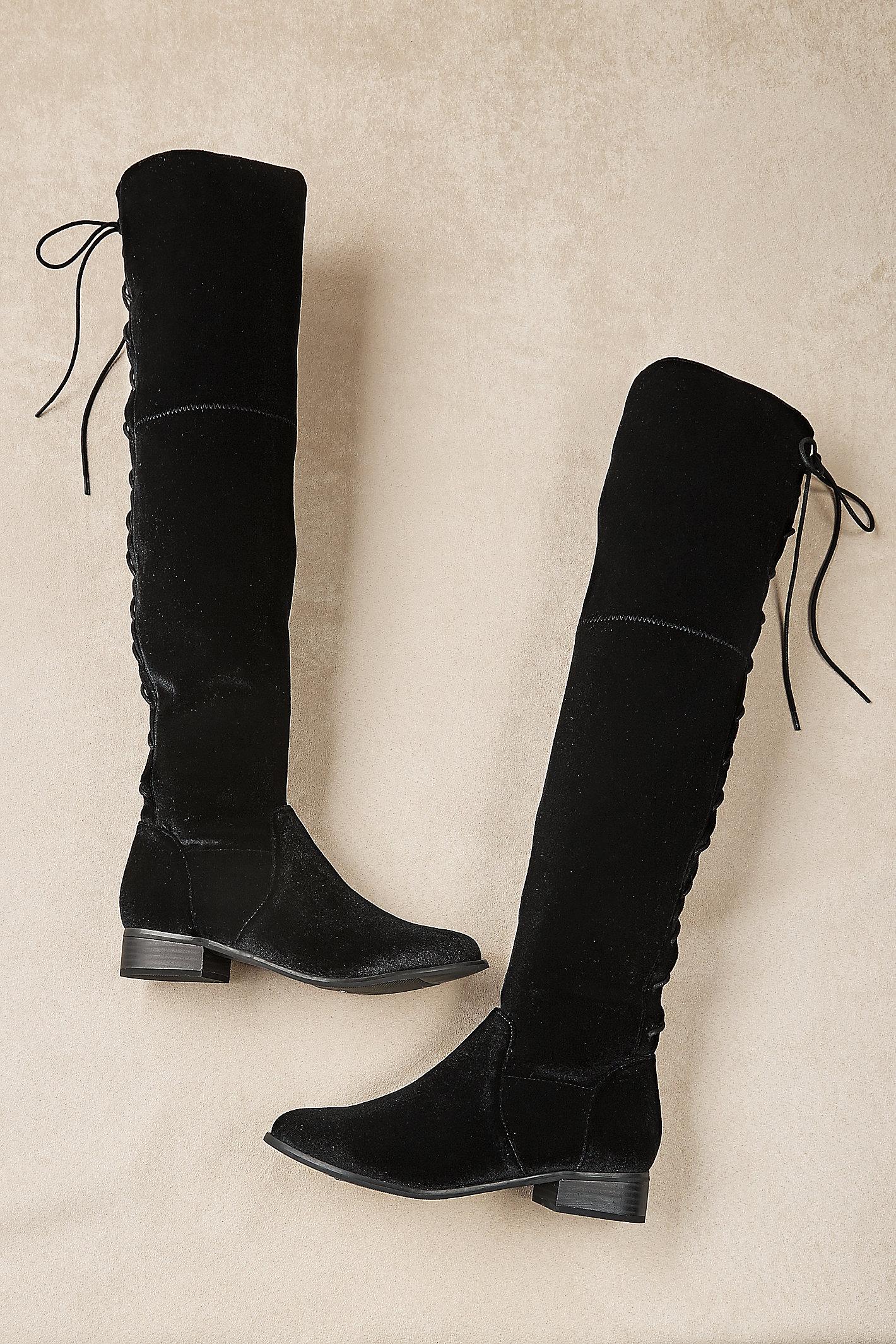 Alessio Stretch Velvet Boots