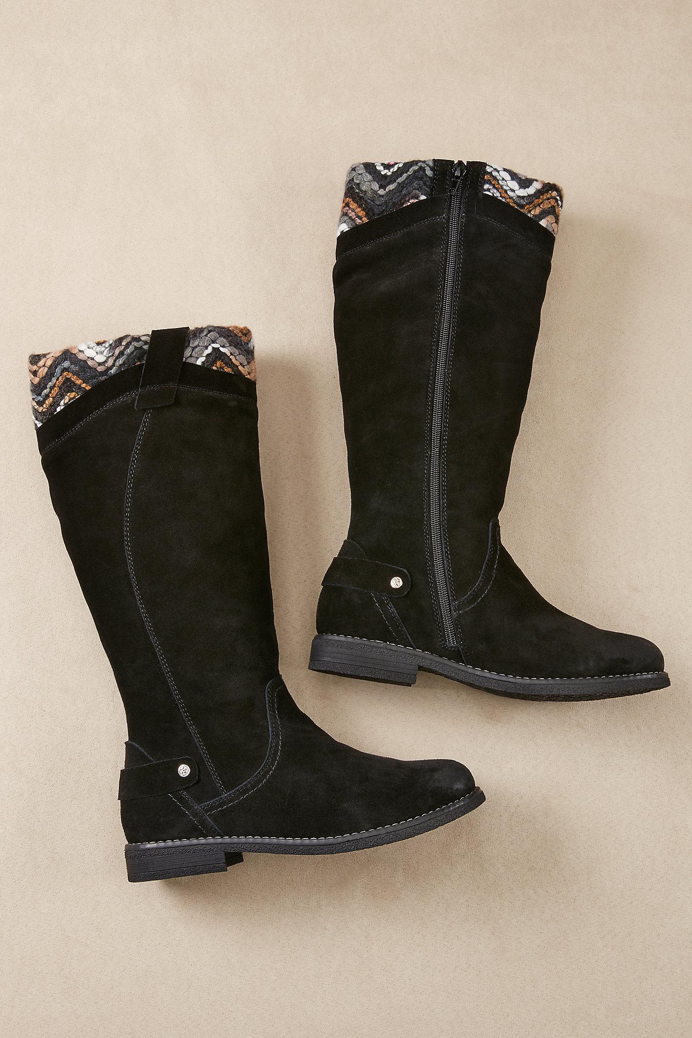 Intarsia Boots
