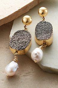 Midnight Druzy Earrings