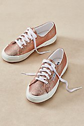 Superga Textured Metallic Sneakers