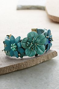 Leather Floral Cuff