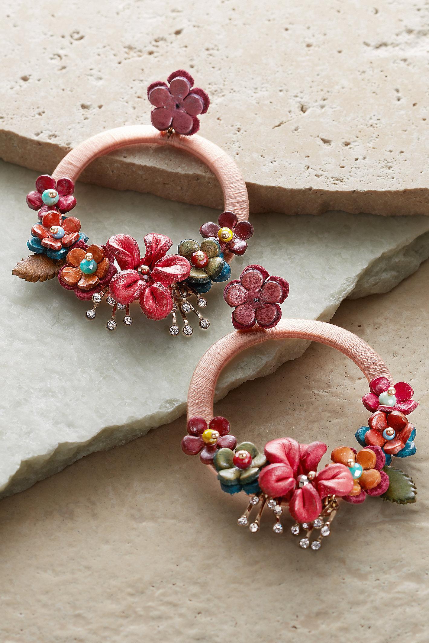 Tropical Floral Earrings