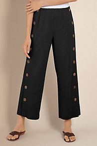 Button Detail Pants