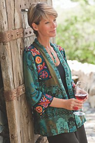Womens Soft Tapestry Jacket