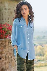 Womens Tencel Denim Shirt