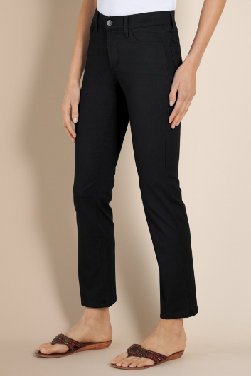 PETITES NOT YOUR DAUGHTER'S JEANS TWILL PANTS