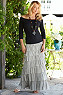 Tiered Knit Skirt Photo