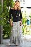 Womens Tiered Ruffles Maxi Skirt