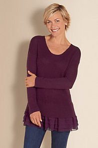 Womens Tiered Bottom Sweater