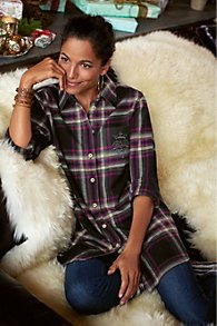 Womens Flannel Tunic