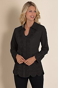 Womens Scalloped Top