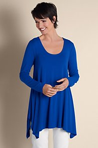 High Low Hem Scoop Neck Tunic