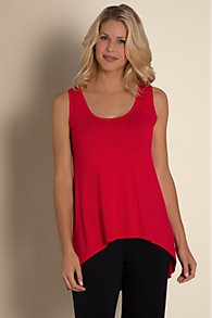 High Low Hem Scoop Neck Tank