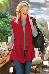 Red Knit Vest