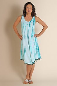 Womens Tie-Dye Dress