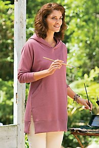 French Terry Hoodie Tunic