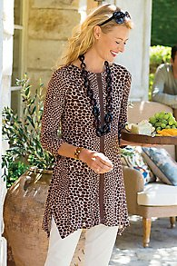 Womens Animal Print Tunic