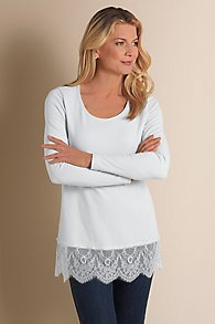 Scalloped Laced Edge Tee