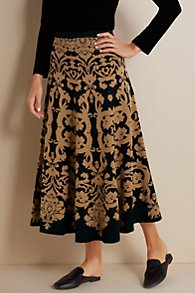 Floral Design Long Skirt