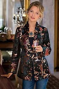 Womens Woven Jacquard Jacket