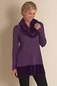 Velvet Tunic and Scarf