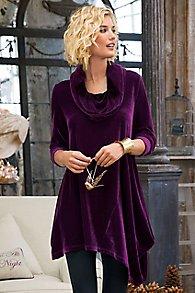 Asymmetrical Velvet Tunic