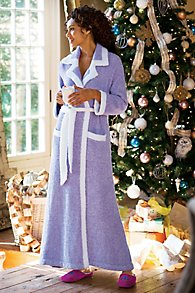 Womens Floor Length Plush Robe