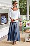 Pleated Denim Skirt Ii Photo