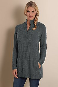 Womens Cable Knit Pullover Sweater
