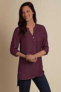 Womens Mandarin Collar Shirt