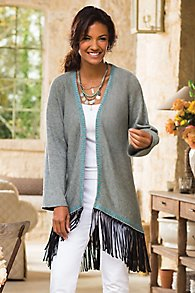 Fringe Bottom Cardigan
